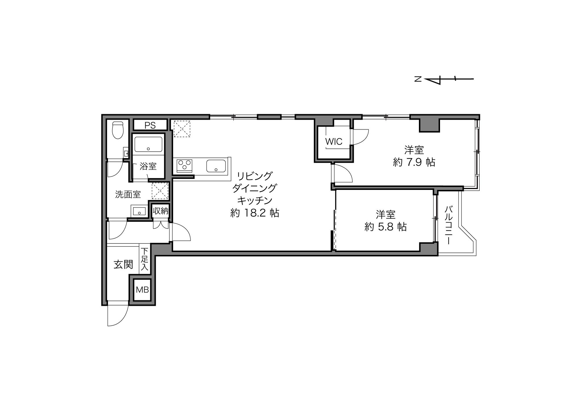 用賀駅 / 2LDK / 69.99㎡