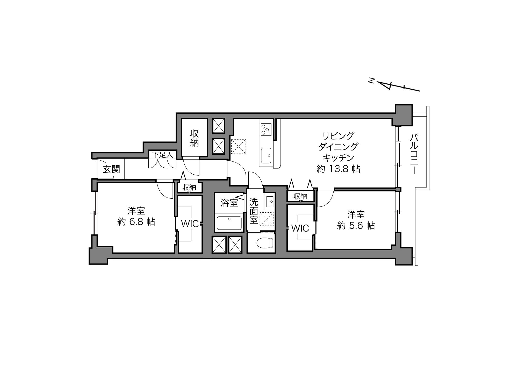 用賀駅 / 2LDK / 71.11㎡