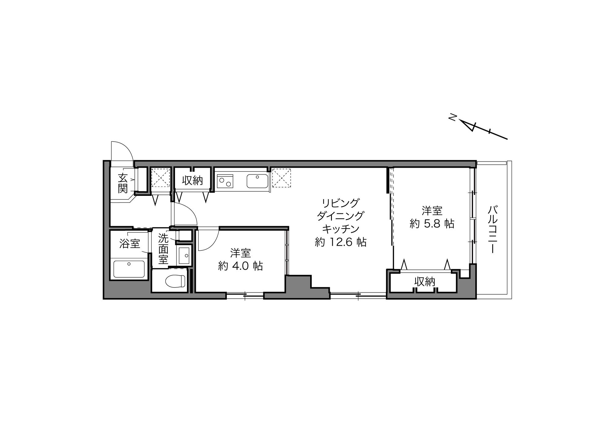 赤坂見附駅 / 2LDK / 51.17㎡