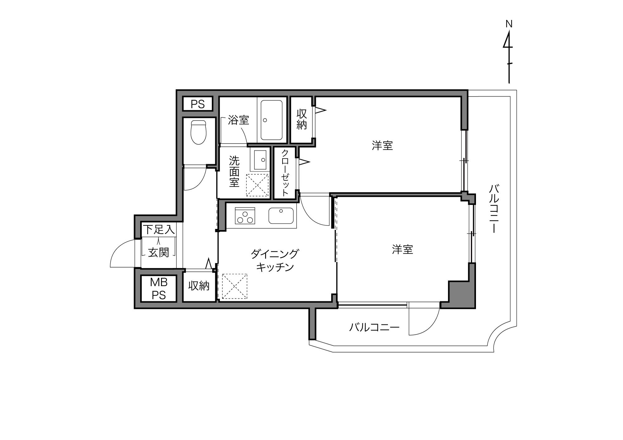 錦糸町駅 / 2DK / 39.97㎡
