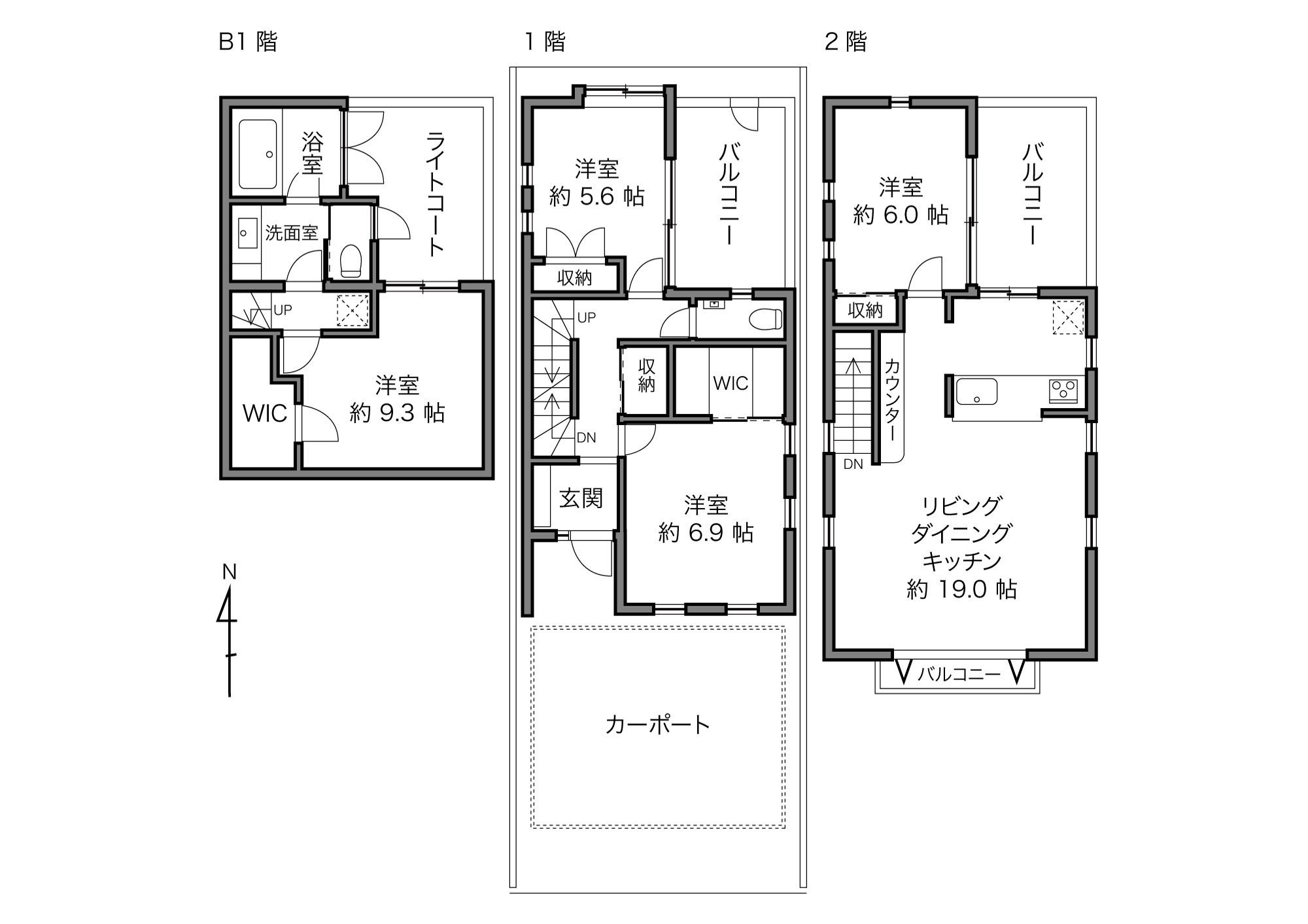 桜新町駅 / 4LDK+WIC / 108.06㎡
