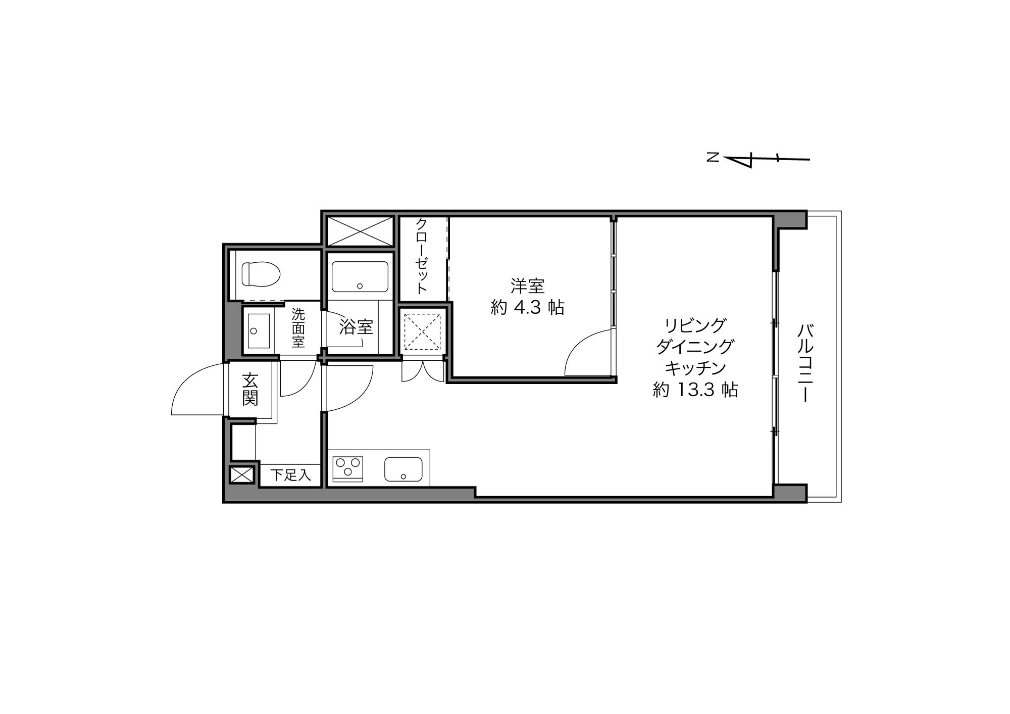 信濃町駅 / 1LDK / 39.60㎡