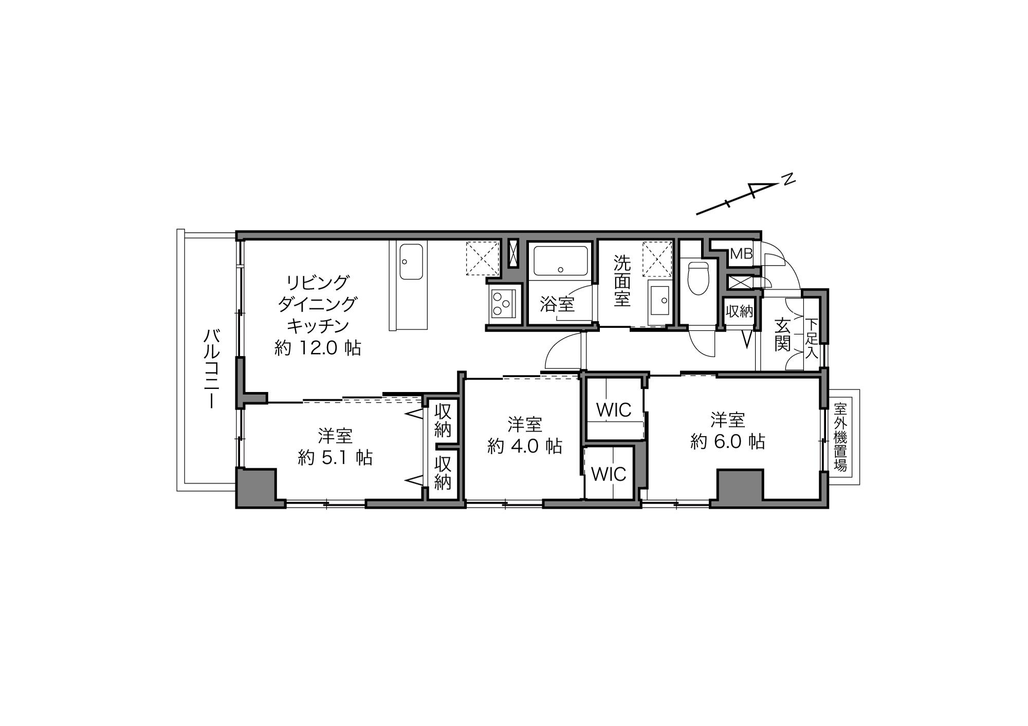 入谷駅 / 3LDK+2WIC / 65.96㎡