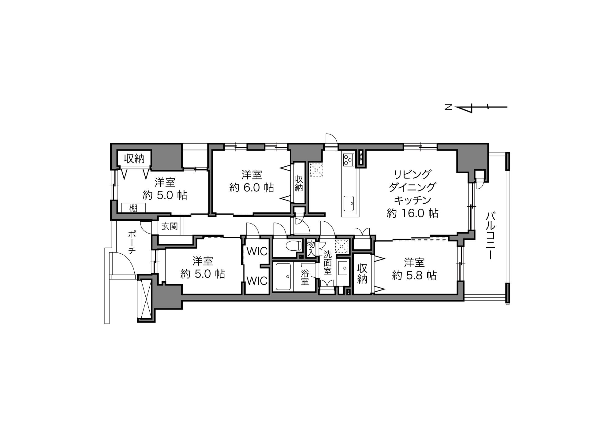 三ノ輪駅 / 4LDK / 87.39㎡