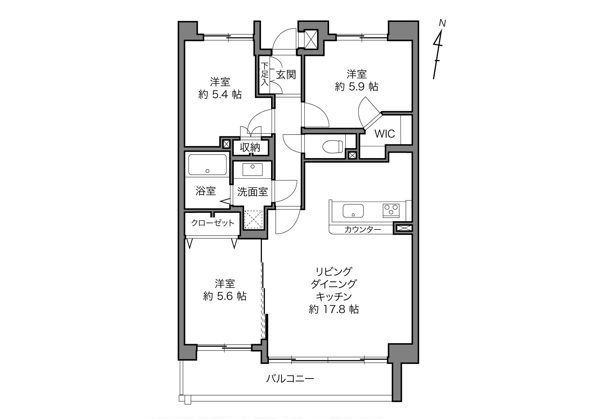 田端駅 / 3LDK+WIC / 76.01㎡