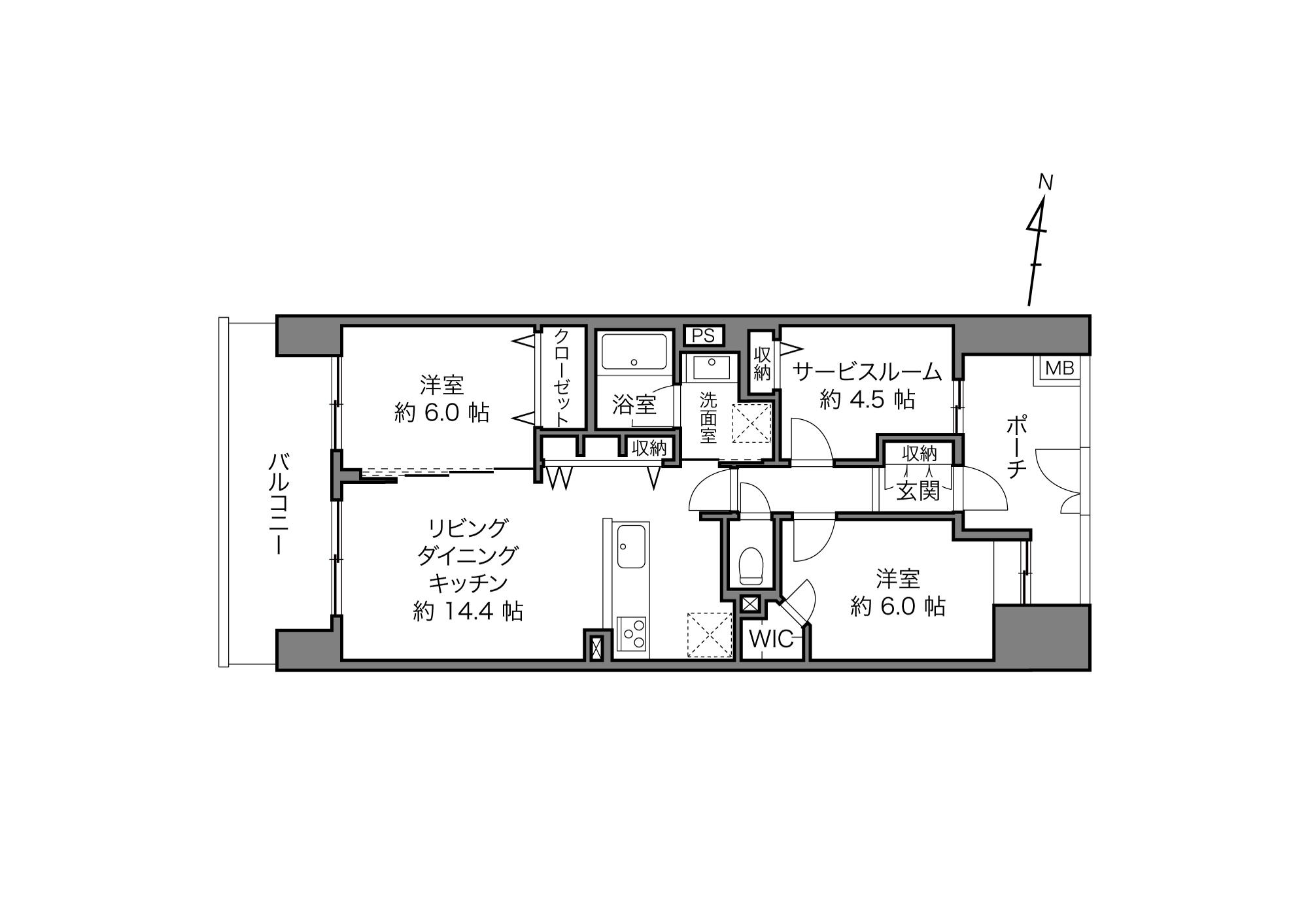 西日暮里駅 / 2SLDK+WIC / 67.28㎡