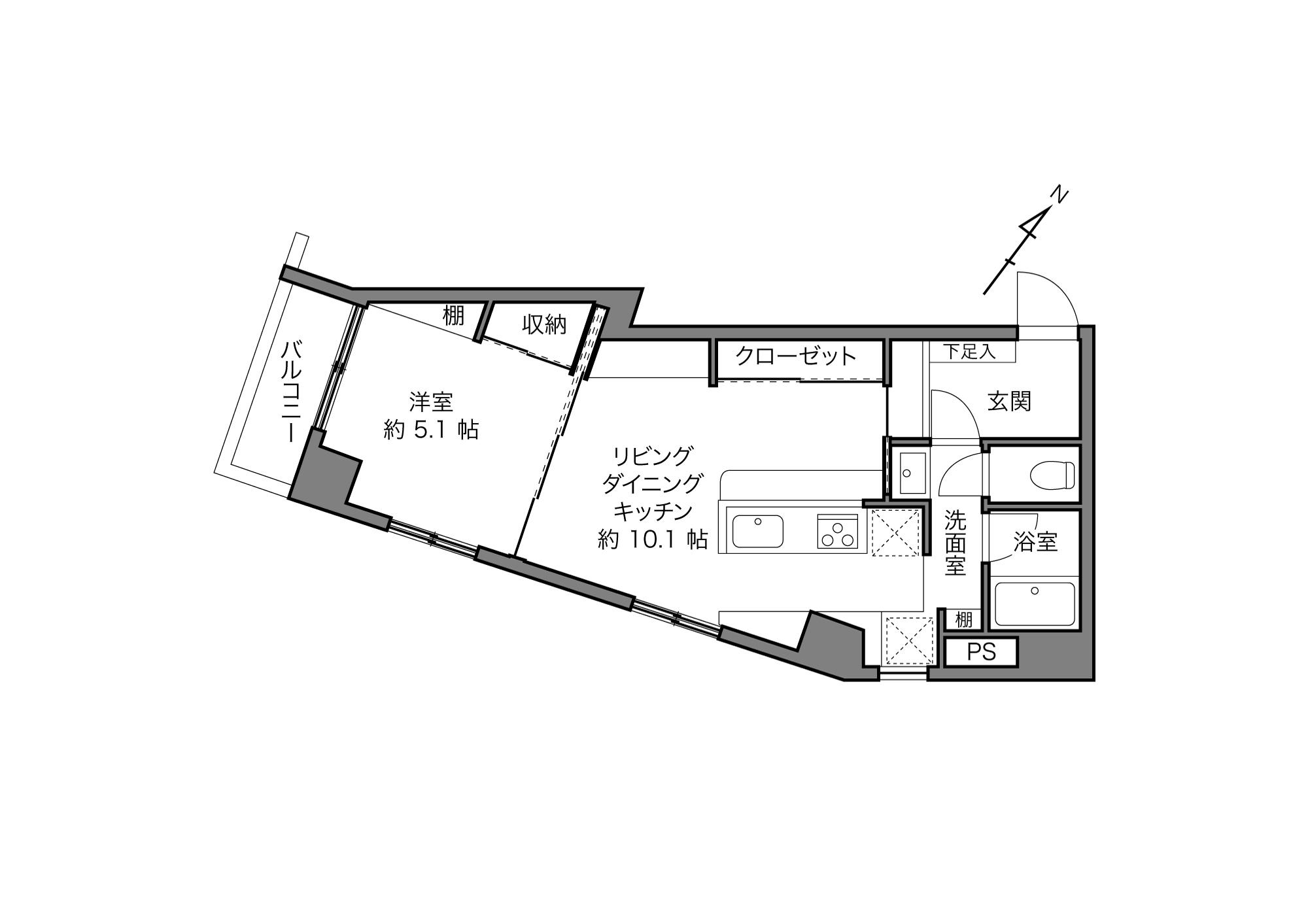 麻布十番駅 / 1LDK / 41.67㎡