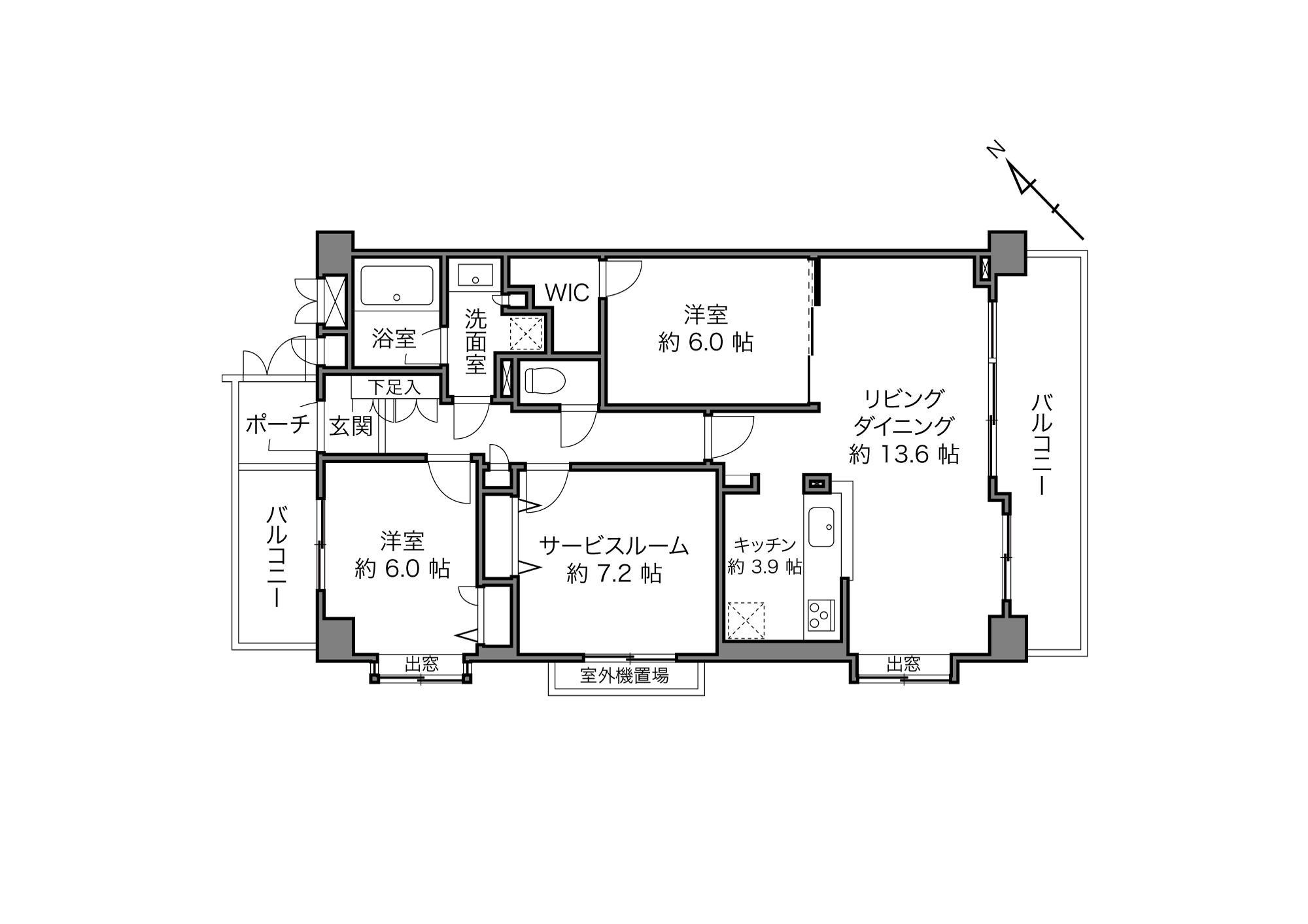上野毛駅 / 2LDK+S(納戸)/ 81.35㎡