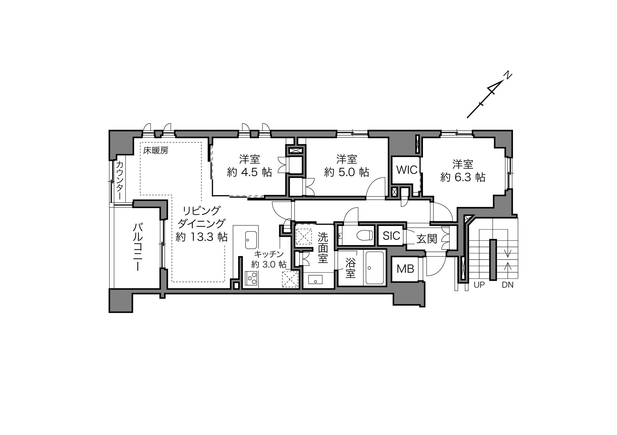 茗荷谷駅 / 3LDK / 73.95㎡