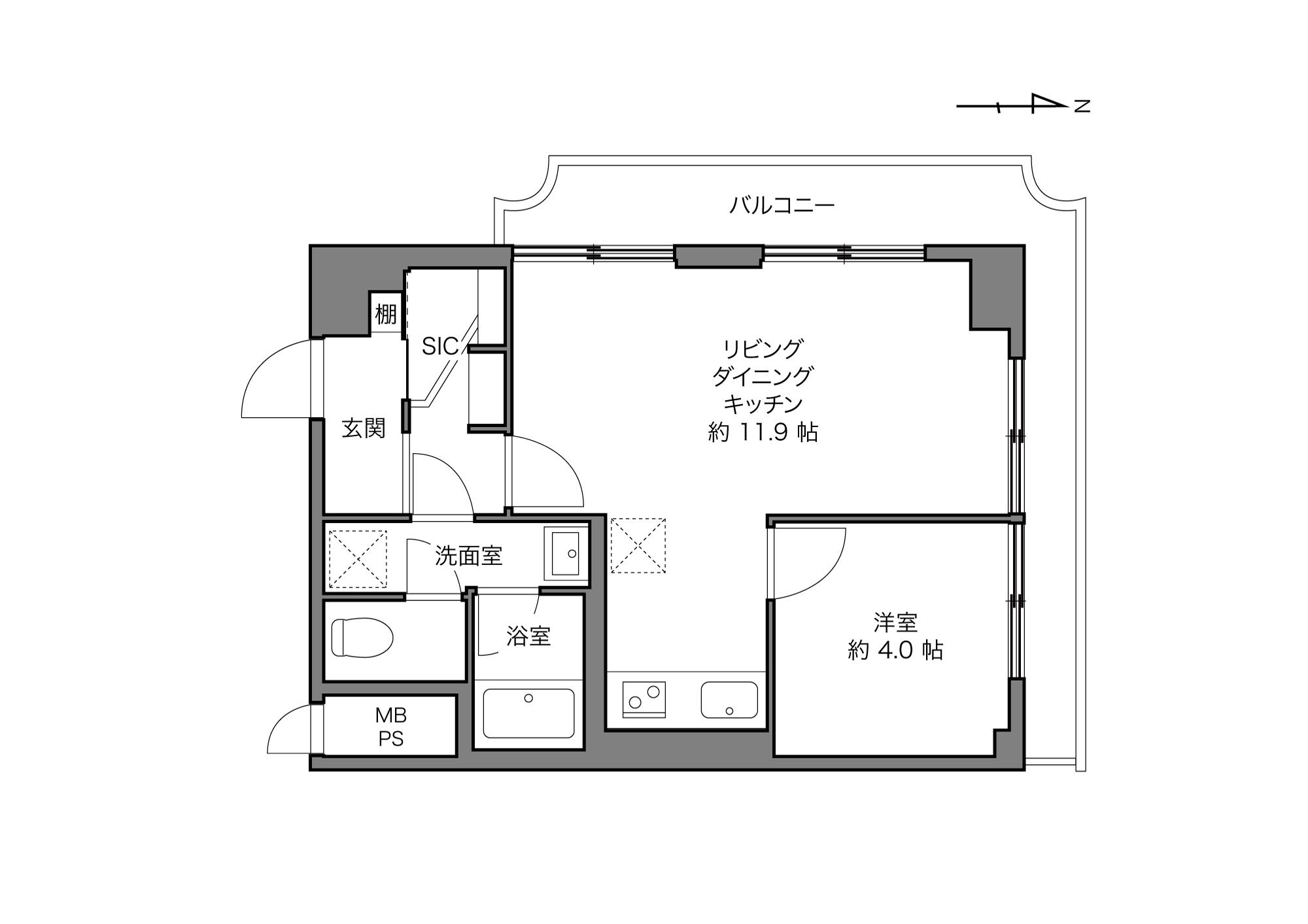 錦糸町駅 / 1LDK / 38.28㎡
