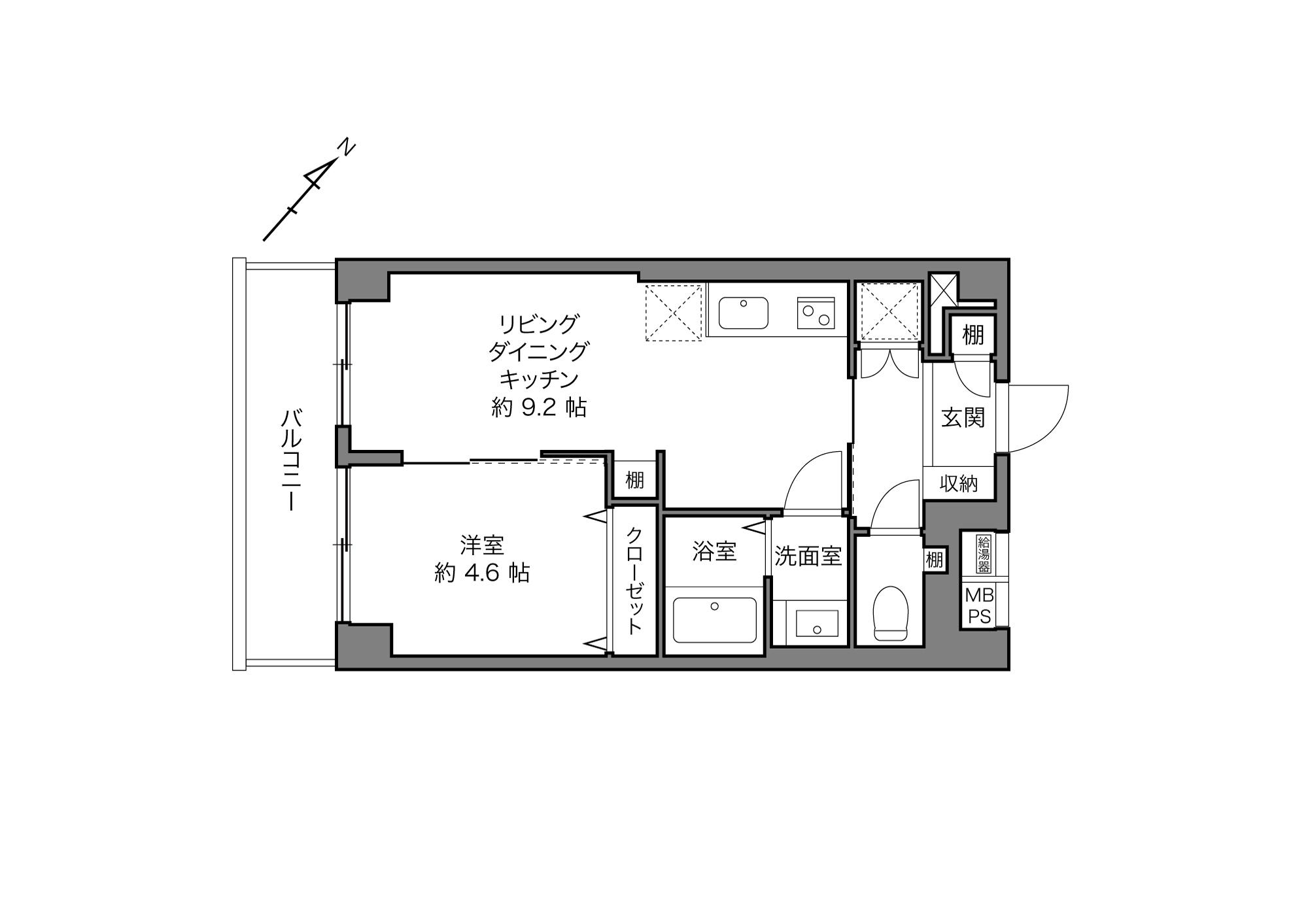 武蔵小山駅 / 1LDK / 35.80㎡