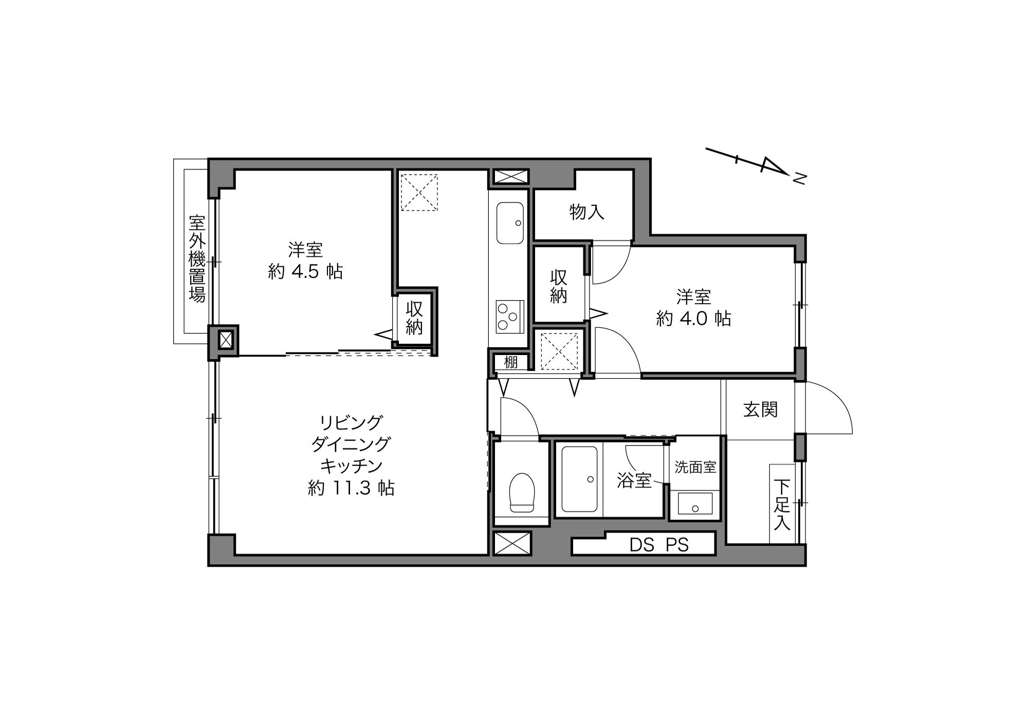 雑司が谷駅 / 2LDK / 51.20㎡