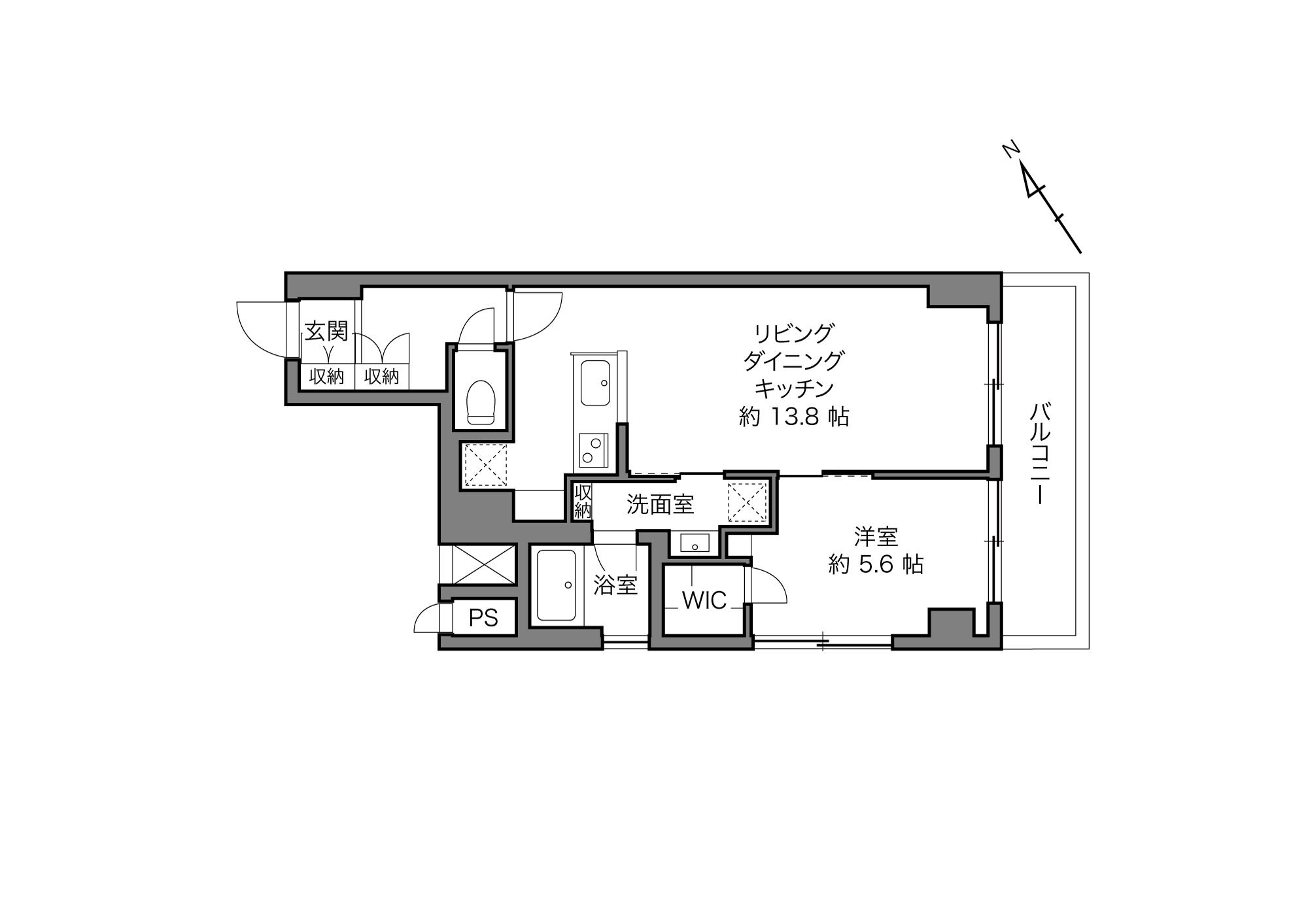 門前仲町駅 / 1LDK+WIC / 47.21㎡
