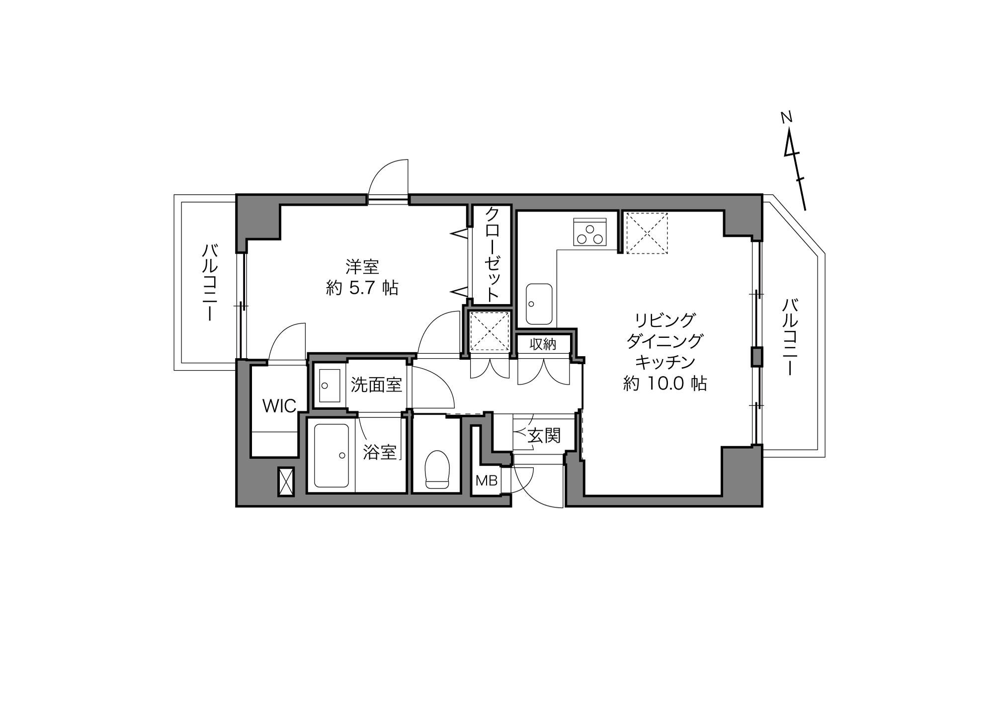 三河島駅 / 1LDK+WIC / 41.73㎡