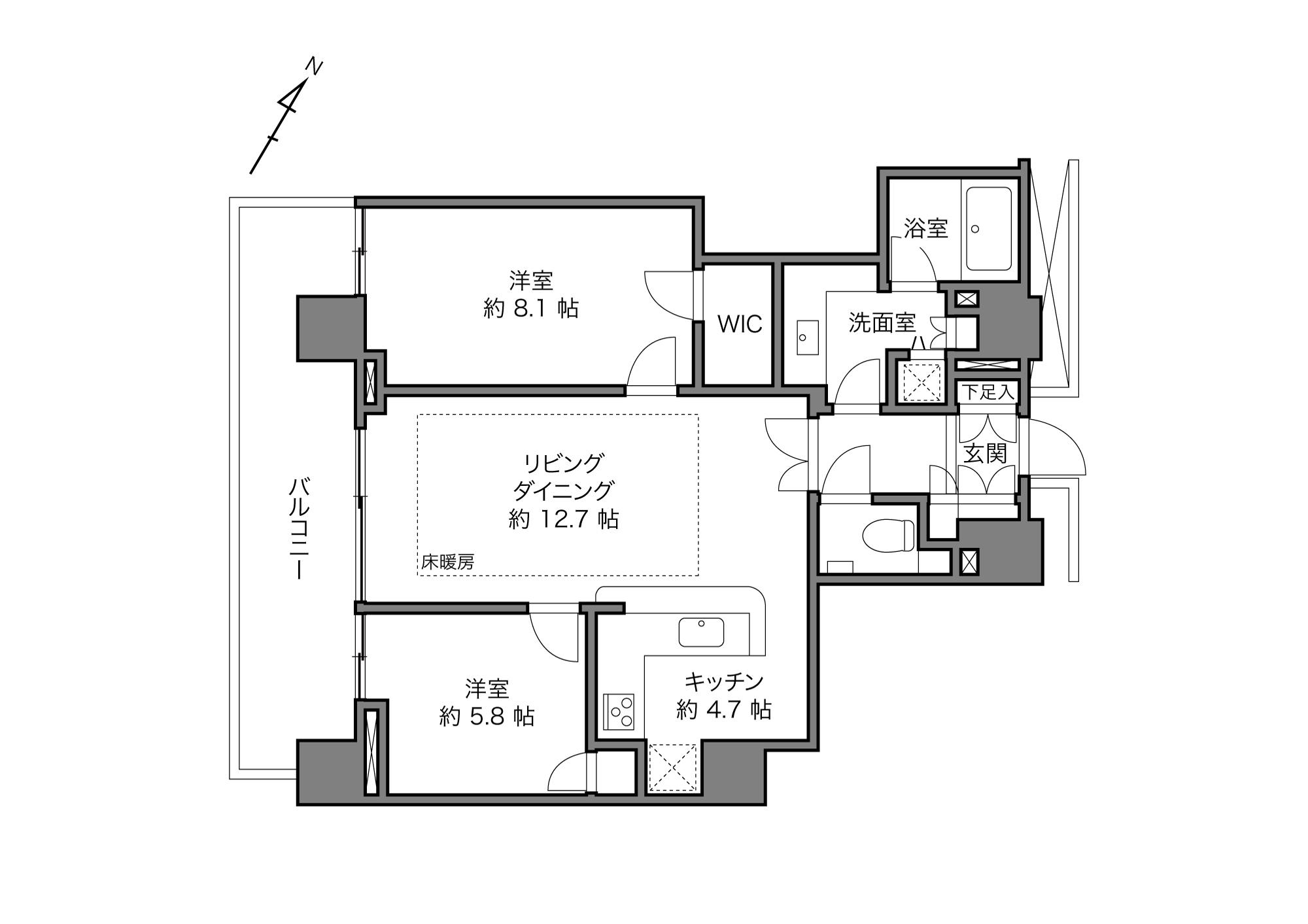 横浜駅 / 2LDK / 71.78㎡