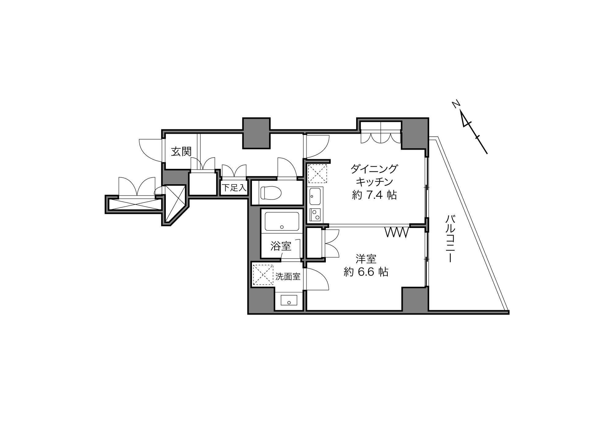 五反田駅 / 1DK / 41.66㎡