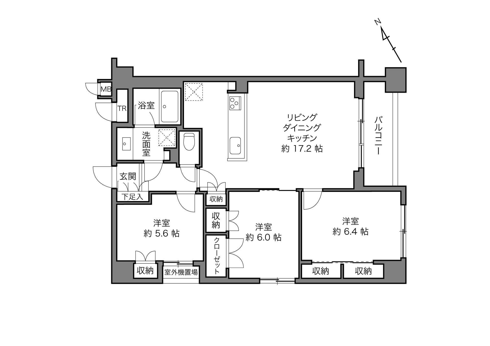 水天宮前駅 / 3LDK / 80.14㎡