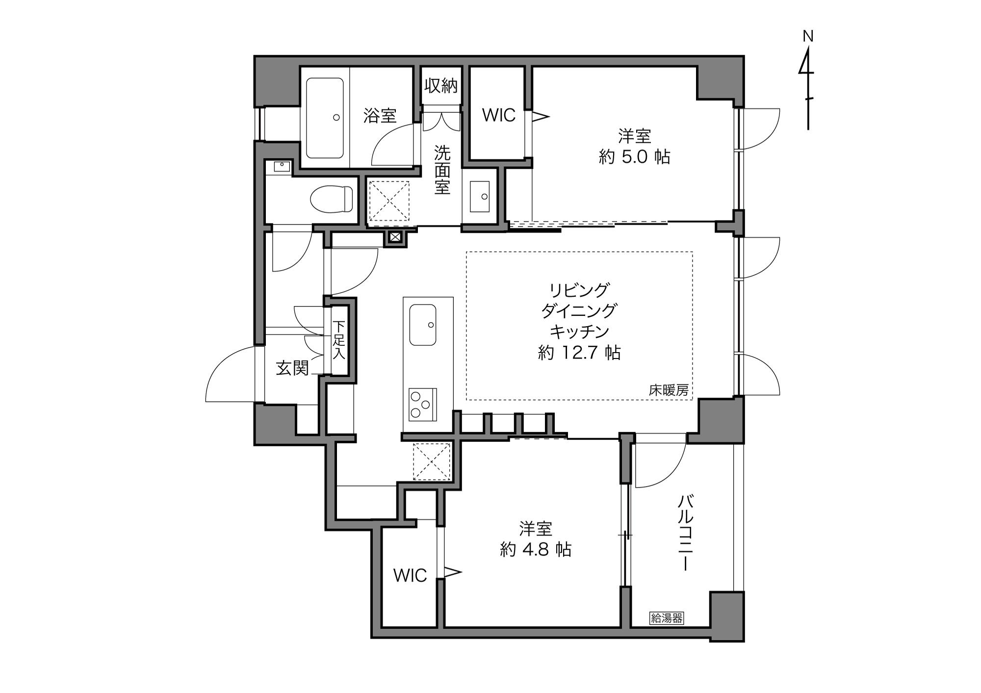 八幡山駅 / 2LDK+2WIC / 53.34㎡