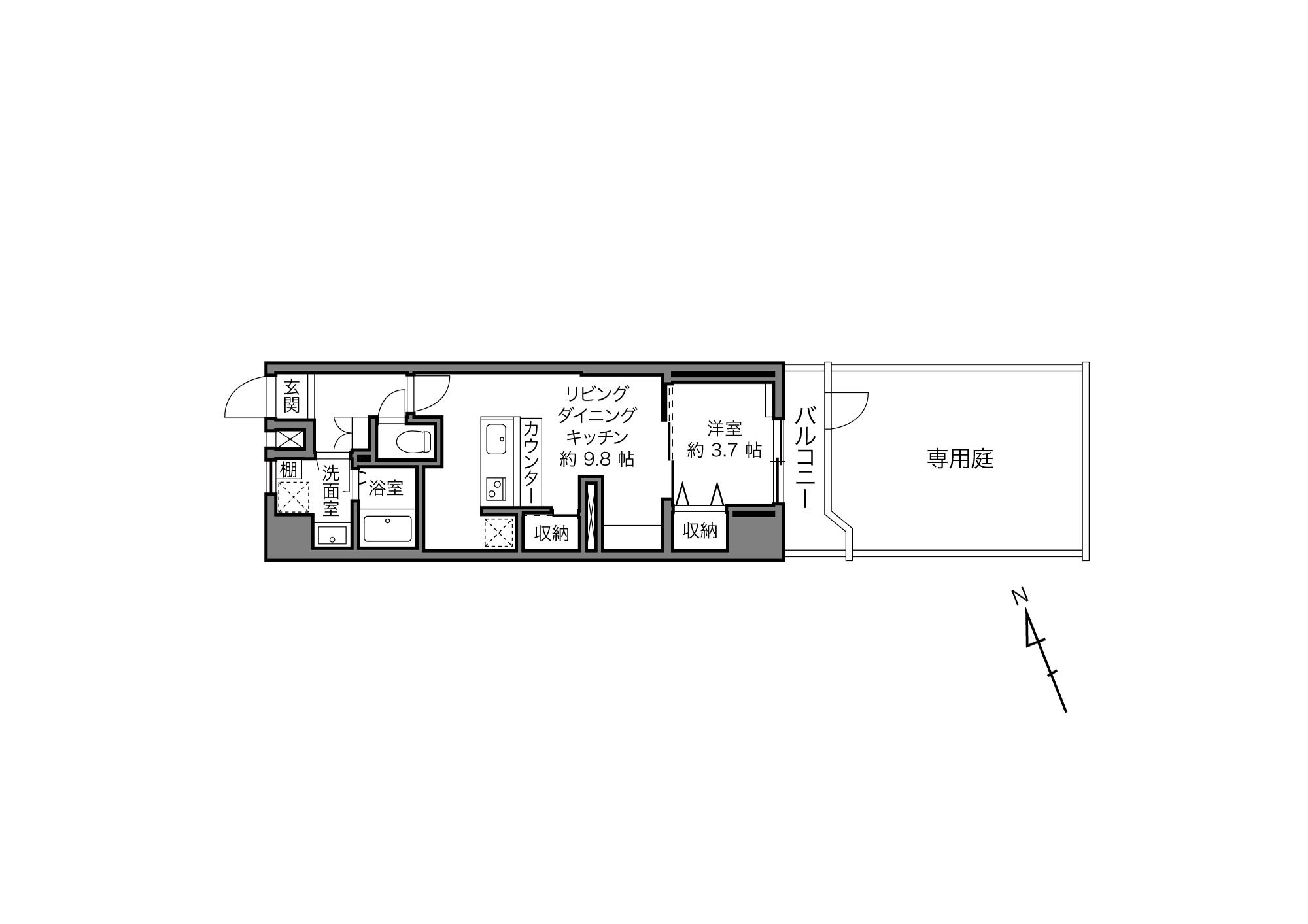 東高円寺駅 / 1LDK+M / 36.50㎡