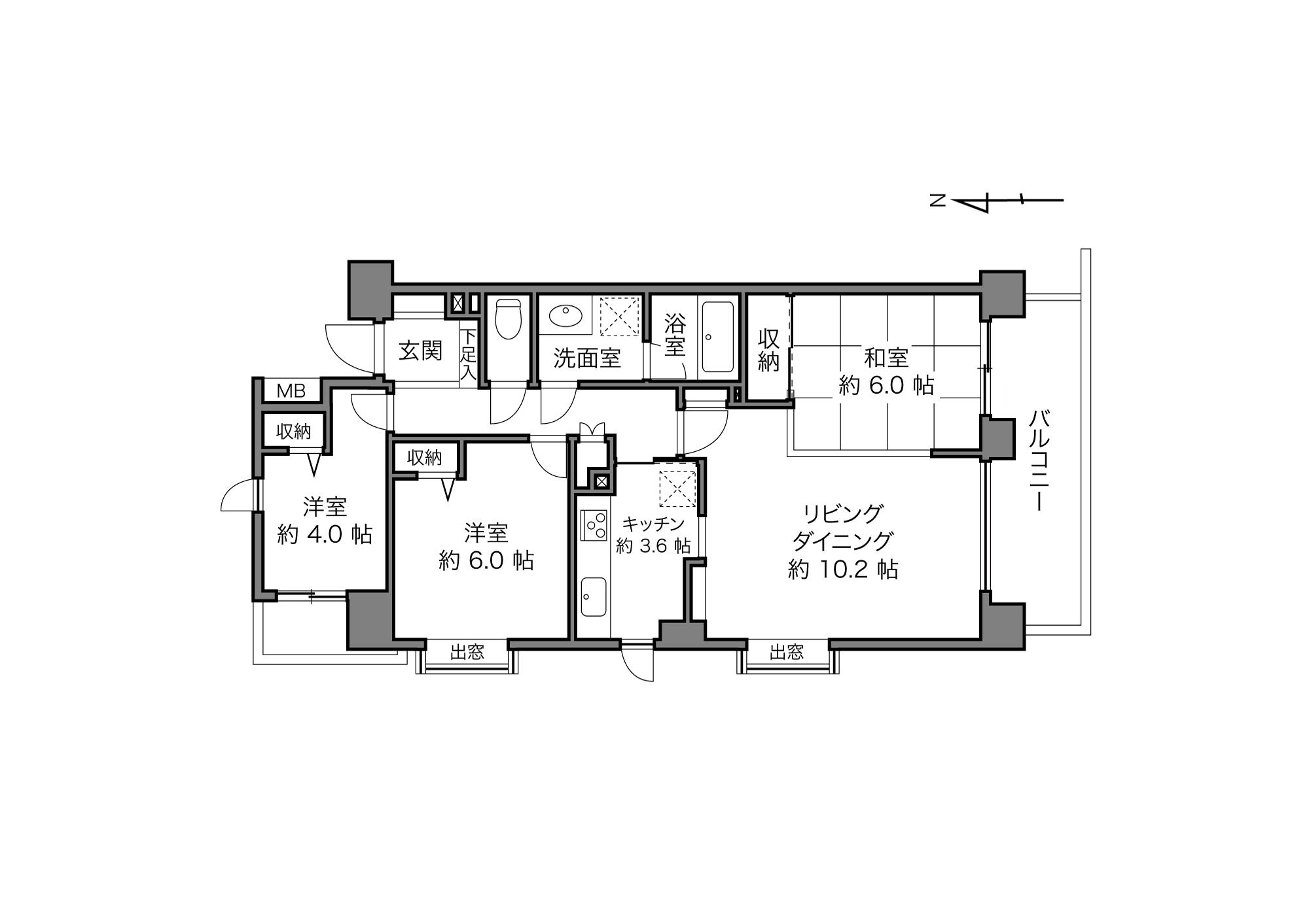 北赤羽駅 / 3LDK / 68.41㎡