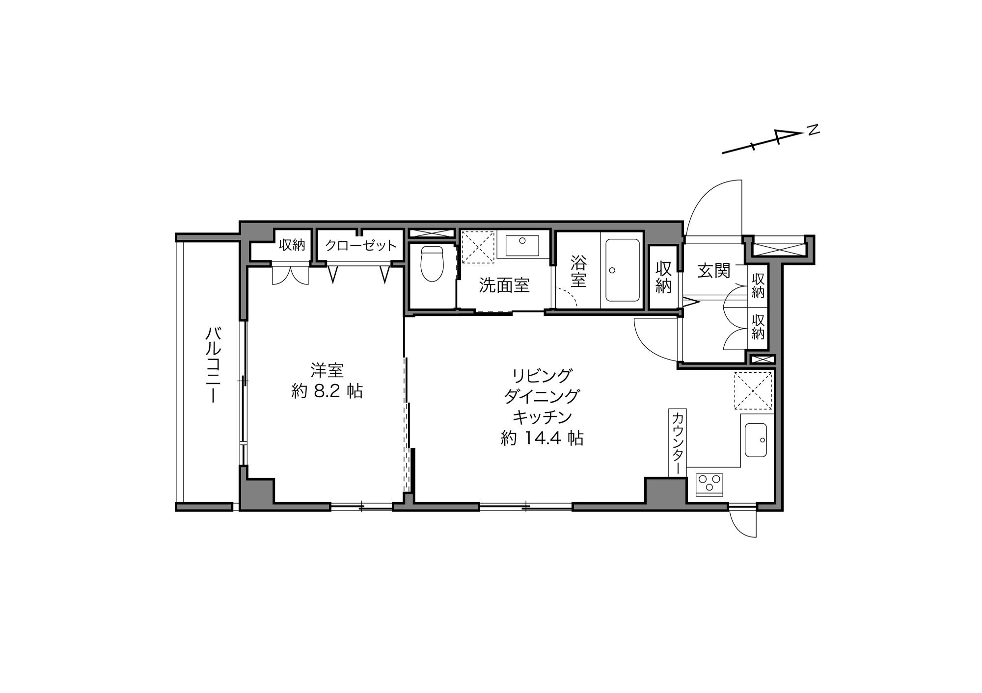 代々木公園駅 / 1LDK+5Closet / 51.54㎡