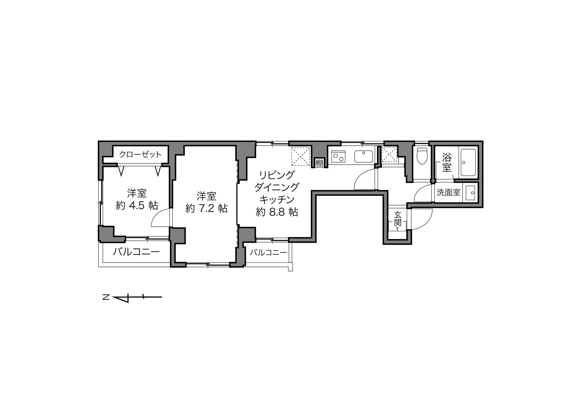 西大井駅 / 2LDK / 45.76㎡