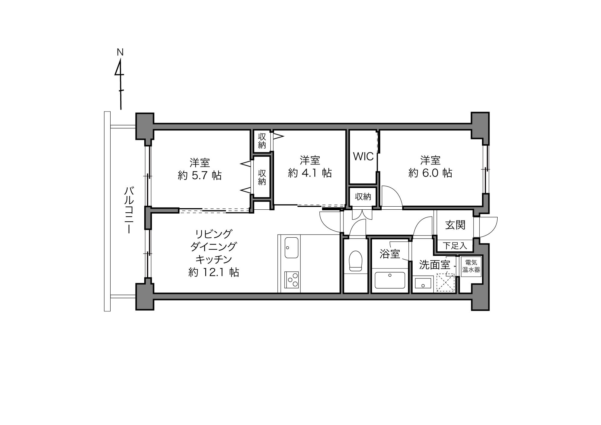 東陽町駅 / 3LDK / 61.72㎡