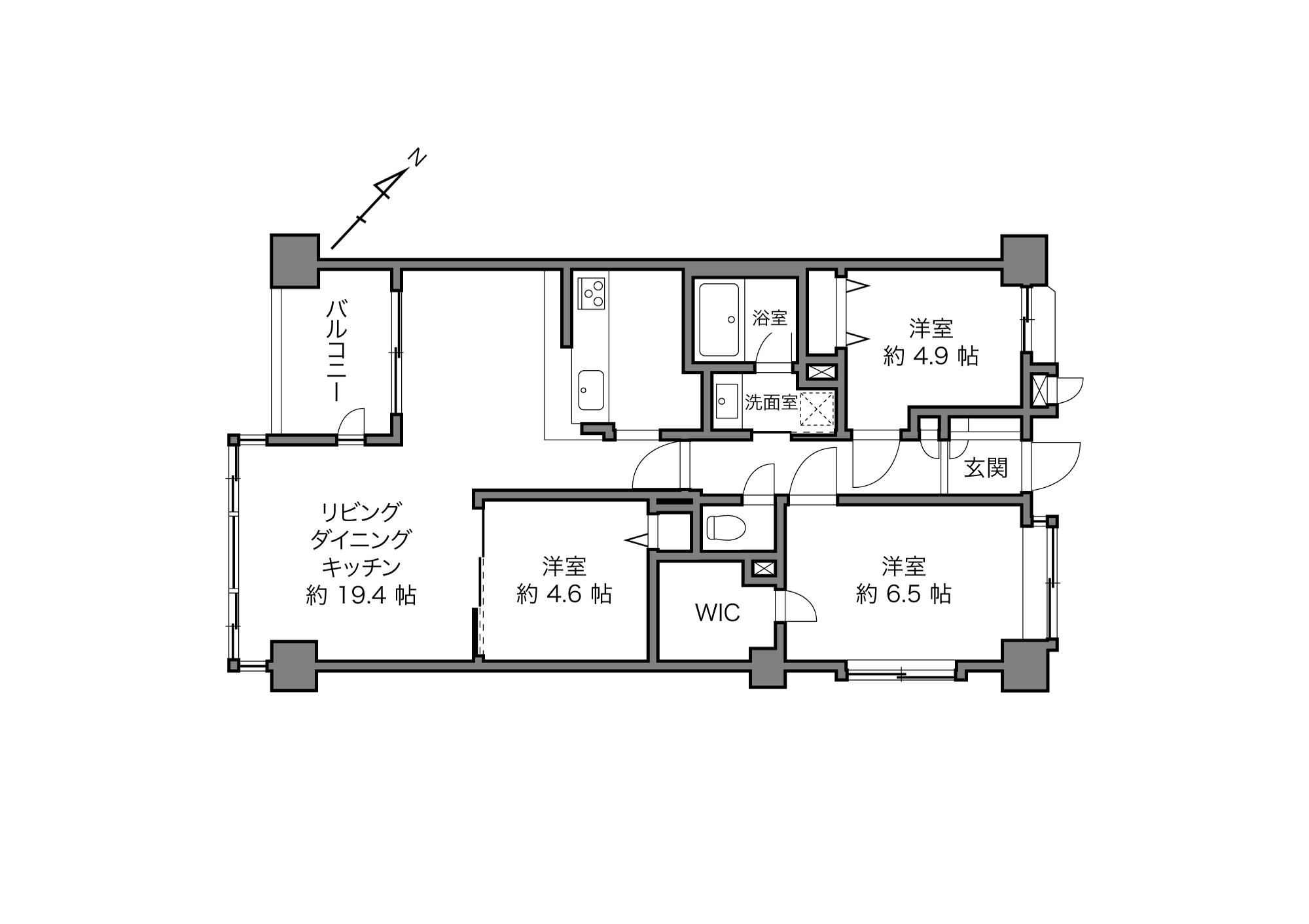 不動前駅 / 3LDK / 77.32㎡