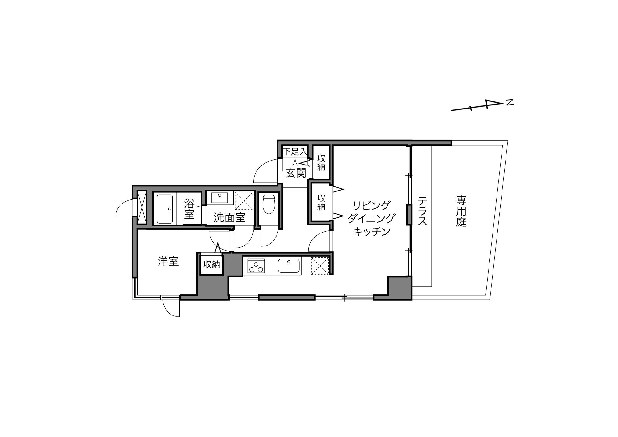牛込柳町駅 / 1LDK / 40.62㎡
