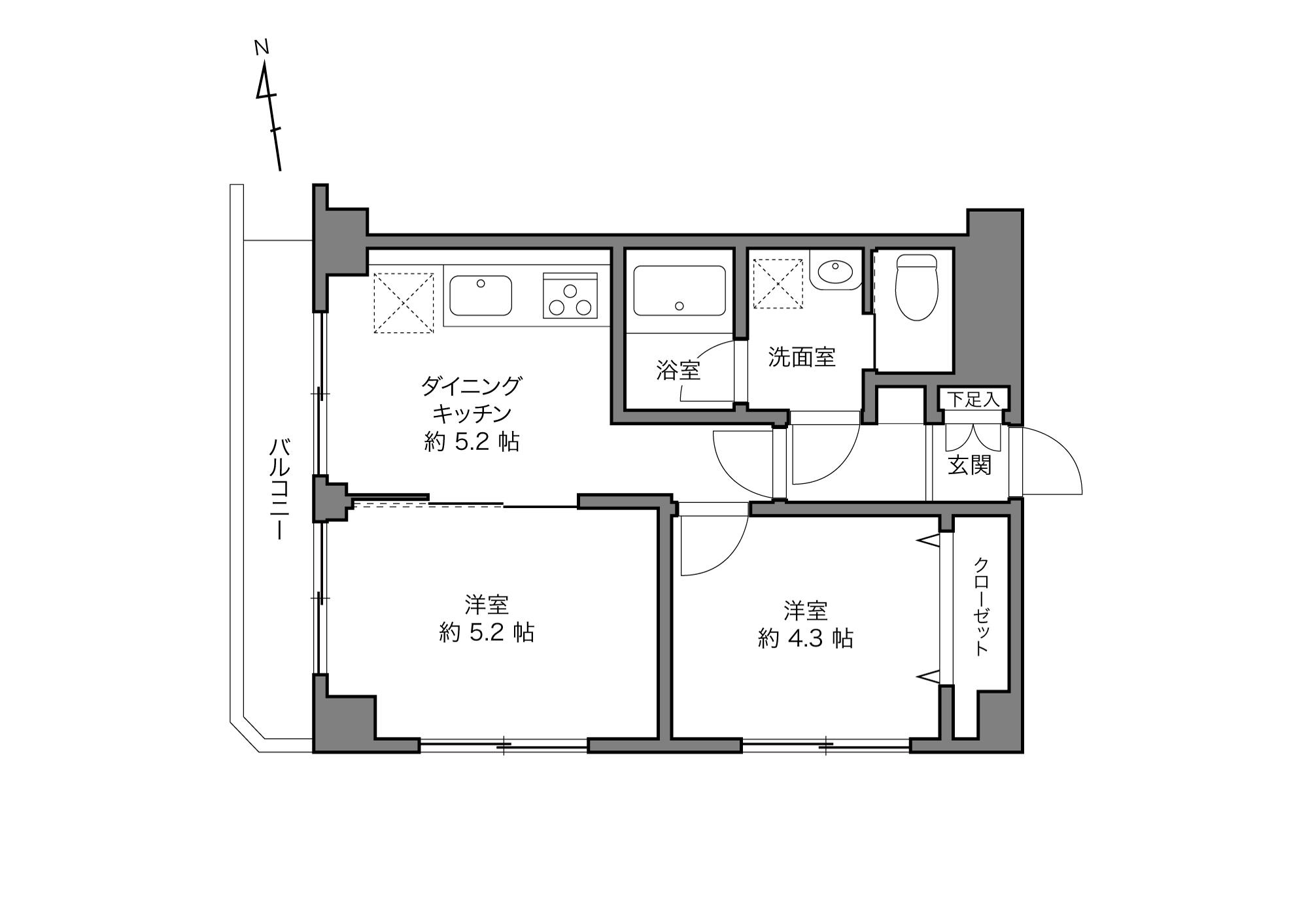 西日暮里駅 / 2DK / 37.08㎡